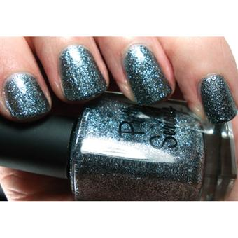 Smoky Blue/Grey Nail Polish (Dream Delight) with Silver Glitter