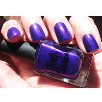 Blurple Shimmer Nail Polish (Poltergeist Puddle) with a Pink Flash