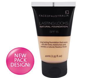 Face of Australia Lasting Looks Natural Foundation (Dark)